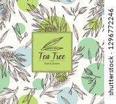 background with tea tree.... | Shutterstock .eps vector #1296772246