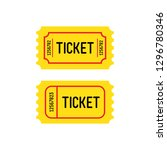 yellow tickets on a white... | Shutterstock .eps vector #1296780346
