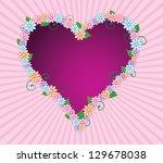 abstract illustration of heart... | Shutterstock . vector #129678038