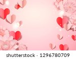 valentine's day card template... | Shutterstock .eps vector #1296780709