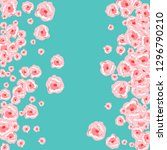 floral summer poster with pink... | Shutterstock .eps vector #1296790210