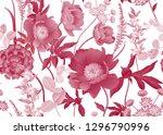 floral seamless pattern. garden ... | Shutterstock .eps vector #1296790996