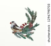 christmas illustration set | Shutterstock . vector #1296798703