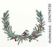 christmas illustration set | Shutterstock . vector #1296798730
