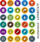 white solid icon set  pen... | Shutterstock .eps vector #1296807679