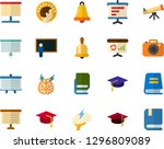 color flat icon set   academic... | Shutterstock .eps vector #1296809089