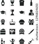 solid black vector icon set  ... | Shutterstock .eps vector #1296824650