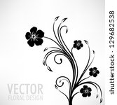 Stock vector abstract seamless floral pattern 129682538