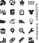solid black vector icon set  ... | Shutterstock .eps vector #1296825979