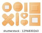 elastic medical plasters... | Shutterstock .eps vector #1296830263