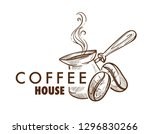 turk and arabica beans coffee... | Shutterstock .eps vector #1296830266