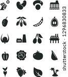 solid black vector icon set  ... | Shutterstock .eps vector #1296830833