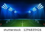 football arena field with... | Shutterstock .eps vector #1296835426