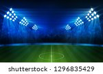 football arena field with... | Shutterstock .eps vector #1296835429