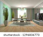 interior dining area. 3d... | Shutterstock . vector #1296836773