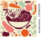 decorative food icons   vector... | Shutterstock .eps vector #129684104