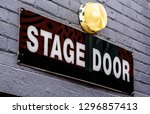 A Diagonal \'stage Door\' Sign...