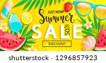 sale banner with symbols for... | Shutterstock .eps vector #1296857923