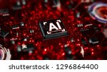 3d render ai artificial... | Shutterstock . vector #1296864400
