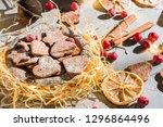 homemade christmas ginger... | Shutterstock . vector #1296864496