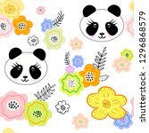 seamless pattern with creative... | Shutterstock .eps vector #1296868579