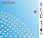 group of paper plane in one... | Shutterstock .eps vector #1296875170