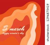8 march.happy women's day....   Shutterstock .eps vector #1296875419