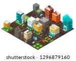 city town district street...   Shutterstock .eps vector #1296879160