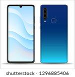 realistic smartphone mockups... | Shutterstock .eps vector #1296885406