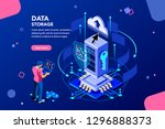 data services for innovation.... | Shutterstock .eps vector #1296888373