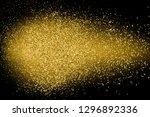 gold glitter texture isolated... | Shutterstock .eps vector #1296892336