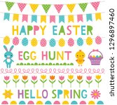 easter vector decoration and... | Shutterstock .eps vector #1296897460
