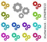 gear mechanism icon in multi...
