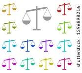 libra icon in multi color....