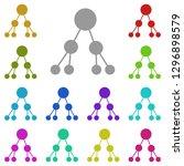 binary tree icon in multi color....