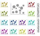 bubble chart icon in multi...