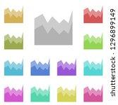 area chart icon in multi color. ...