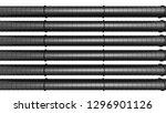 row of black industrial...   Shutterstock . vector #1296901126
