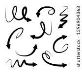 curve arrow signs | Shutterstock .eps vector #1296904363