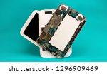 tablet repair. close up... | Shutterstock . vector #1296909469