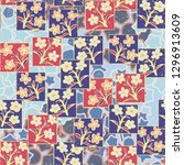 seamless pattern made up of...   Shutterstock .eps vector #1296913609