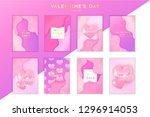 saint valentine's day trendy... | Shutterstock .eps vector #1296914053