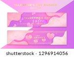 valentine's day trendy bright... | Shutterstock .eps vector #1296914056