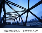 steel structure bridge close up ... | Shutterstock . vector #129691469