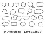 big set of speech bubbles.... | Shutterstock .eps vector #1296923539