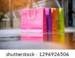 shopping bags of women crazy... | Shutterstock . vector #1296926506