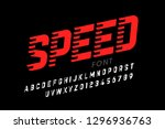 speed style modern font ... | Shutterstock .eps vector #1296936763