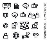 illustration of social media... | Shutterstock .eps vector #1296940240