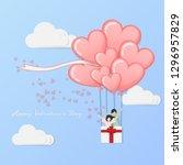 vector of love and happy... | Shutterstock .eps vector #1296957829