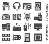 computer components related... | Shutterstock .eps vector #1296958009